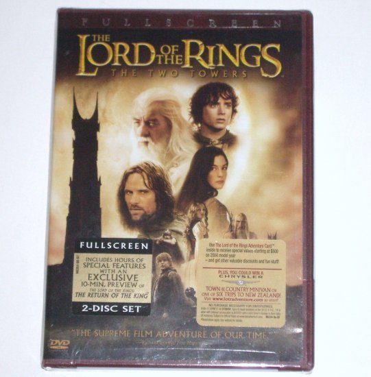 Lord of the Rings The Two Towers DVD New & Unopened