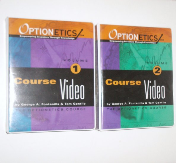 Optionetics Course Video Volumes 1 and 2 ~ 8 VHS Tapes by GEORGE A FONTANILLS, TOM GENTILE