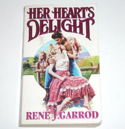Her Heart's Delight by Rene J. Garrod Zebra Lovegram Historical Western Romance 1995