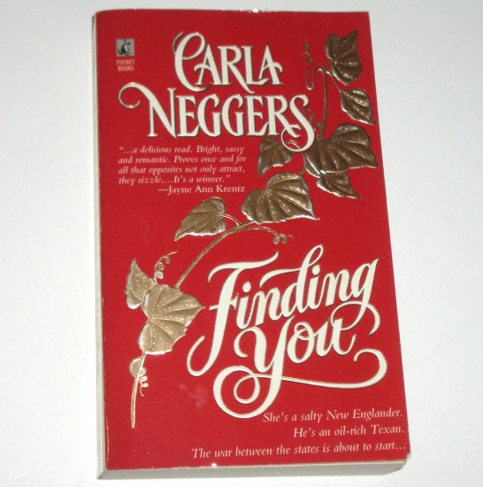 Finding You by CARLA NEGGERS Contemporary Romance 1996