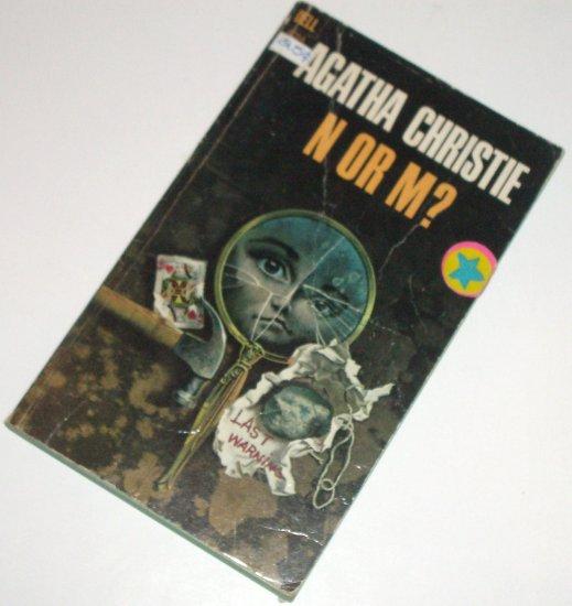 N or M? by AGATHA CHRISTIE Mystery 1969 Dell