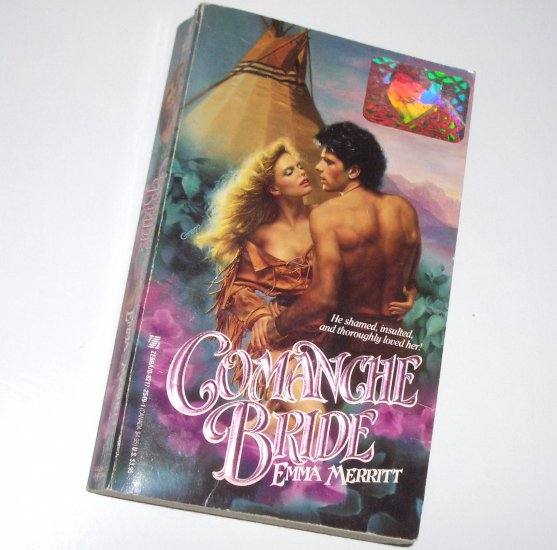 Comanche Bride by EMMA MERRITT Zebra Historical Indian Romance 1988