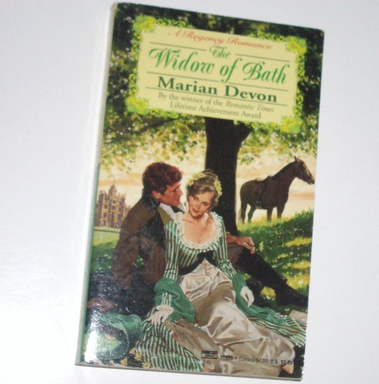 The Widow of Bath by MARIAN DEVON Slim Historical Regency Romance 1994