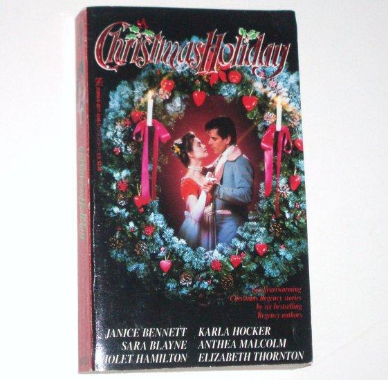 A Christmas Holiday by VIOLET HAMILTON, ANTHEA MALCOLM, et al Regency Anthology Romance 1992
