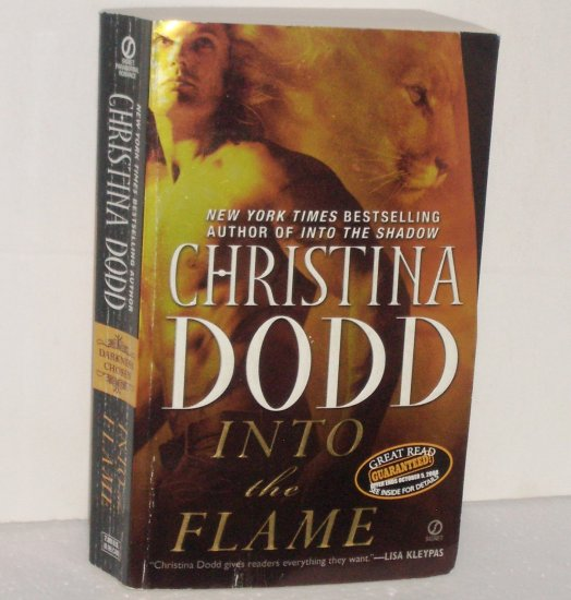 Into the Flame by Christina Dodd Paranormal Werewolf Romance 2008 Darkness Chosen Series