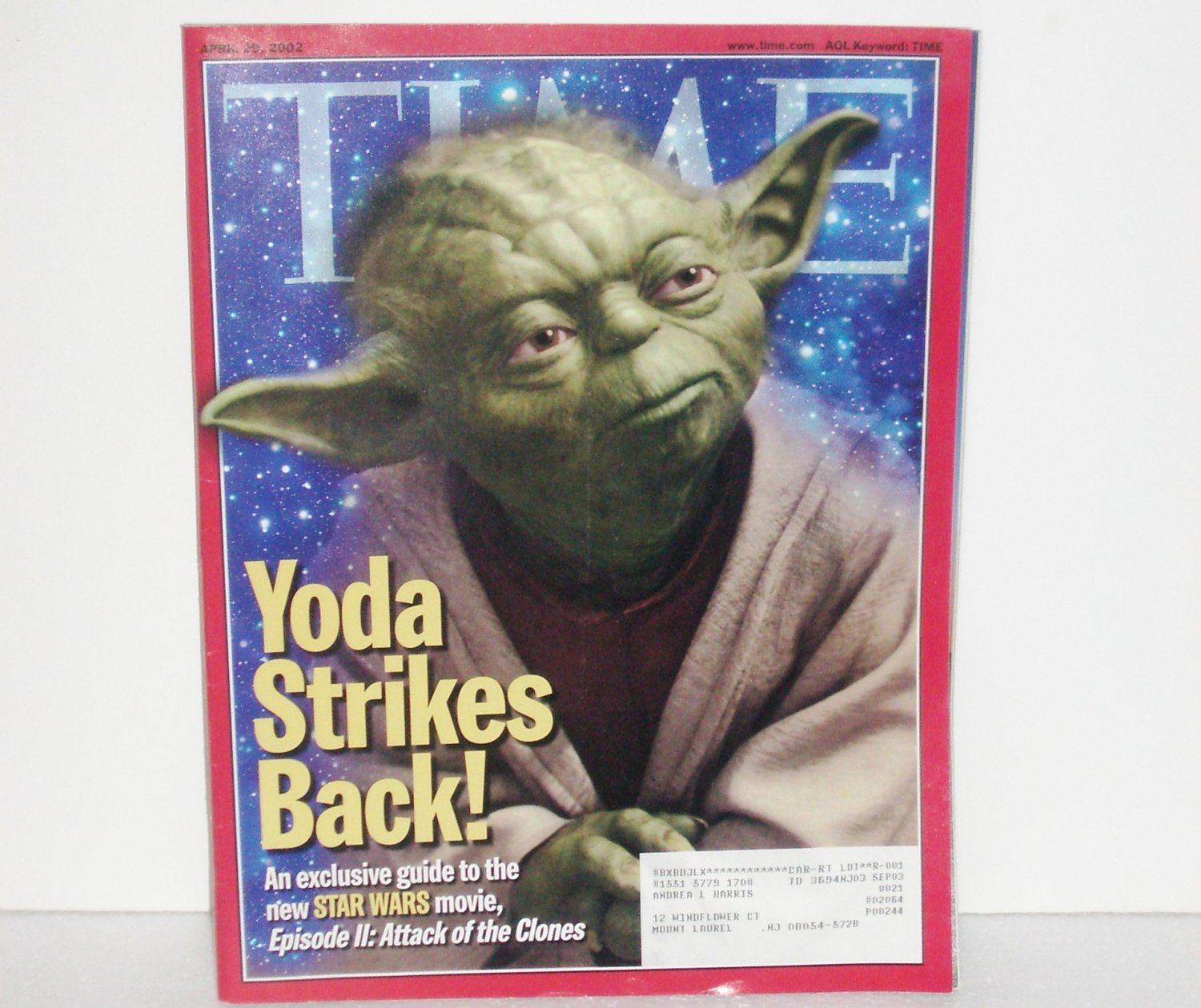 Time Magazine Yoda Strikes Back April 29 2002