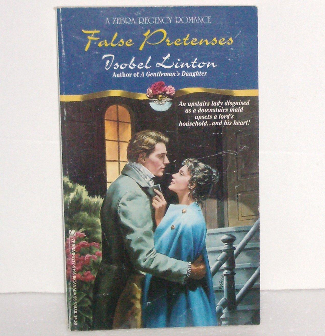 False Pretenses by ISOBEL LINTON Slim Zebra Historical Regency Romance 1996