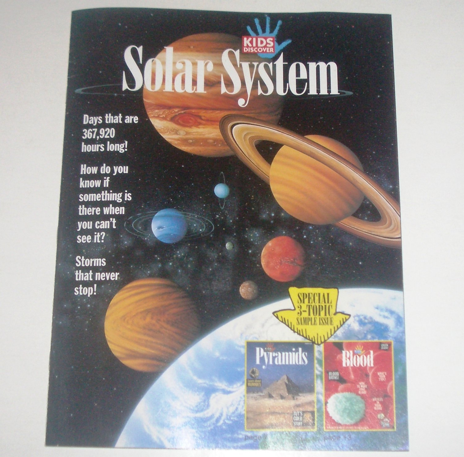 Kids Discover Solar System Special 3-Topic Sample Issue: Pyramids, Blood