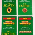Lot of 4 Games Workshop Citadel Collectors Guides Warhammer Dwarfs Empire Skaven