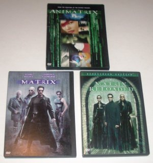The Matrix, Matrix Reloaded & Animatrix DVDs
