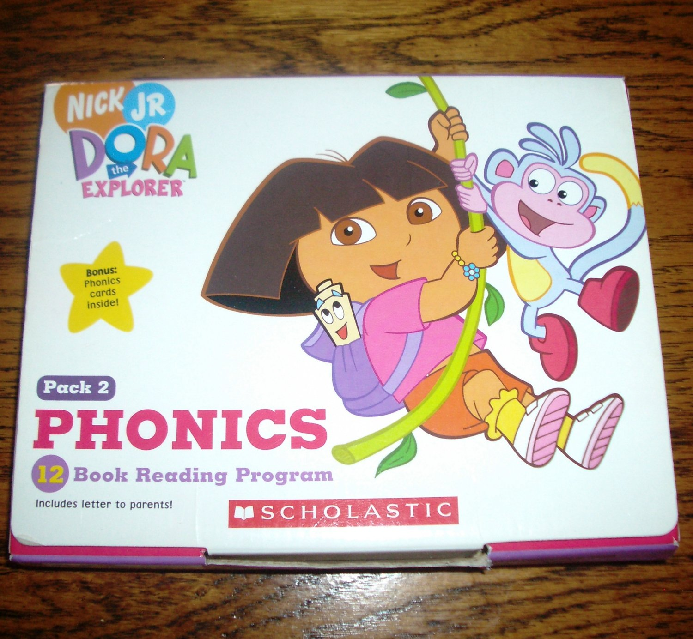 Dora the Explorer Pack 2 Phonics 12 Book Reading Program from Scholastic