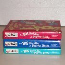 Lot of 3 The Big GREEN Book of Beginner Books by Dr. Seuss RED & BLUE 18 Stories