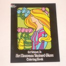 Art Noveau Stained Glass Coloring Book by Ed Sibbett, Jr. 1977