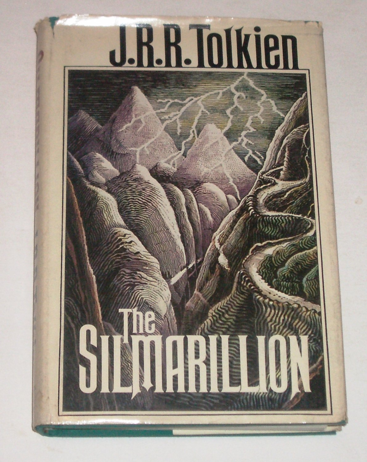 The Silmarillion~JRR Tolkien~1977~Hardcover DJ~1st American Ed 1st Printing~Map