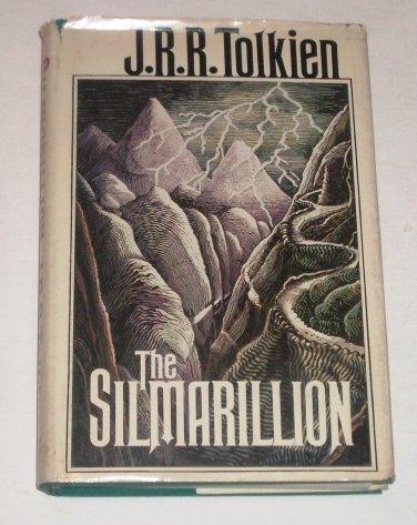 The Silmarillion~JRR Tolkien~1977~Hardcover DJ~1st American Ed 1st Printing~Map
