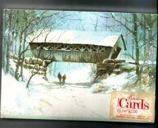 Cover Bridge winter snow new 25 christmas Postcards New