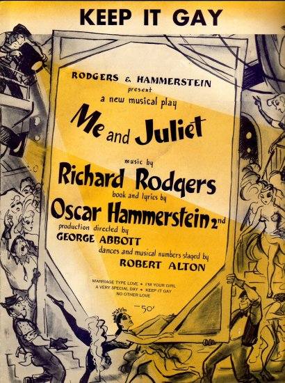 Keep it Gay  Rodgers Hammerstein Vintage sheey Music