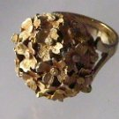 Vintage Hidden  Watch Ring Flower Sheffield