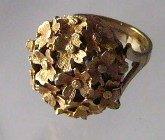 Vintage Hidden  Watch Ring Flower Sheffield