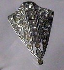 Art Deco Vintage Ornate clear  Rhinestone Pin Dramatic