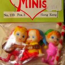 Vintage	Minature Christmas elves elf 3New