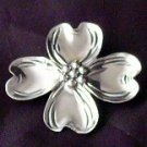 Sterling Silver Dogwood Flower pin Beau