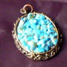 I am Chippy for you Turquoise blue Pendandt