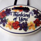 Thinking of You Tie one on  LONGABERGER Basket Ceramic