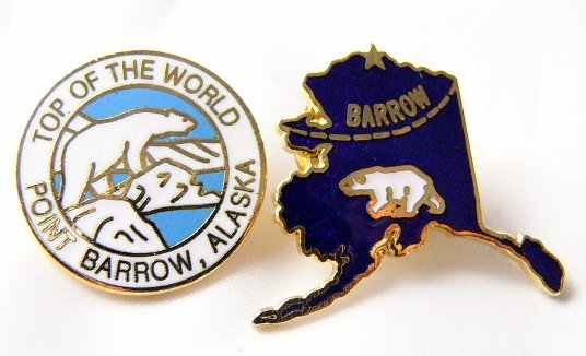 Point Barrow Alaska Pin  Bear state  Top of the  world