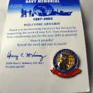 United States Navy Memorial Membership pin 2003