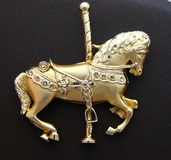 Merry go round  goes the Carousel Horse pin