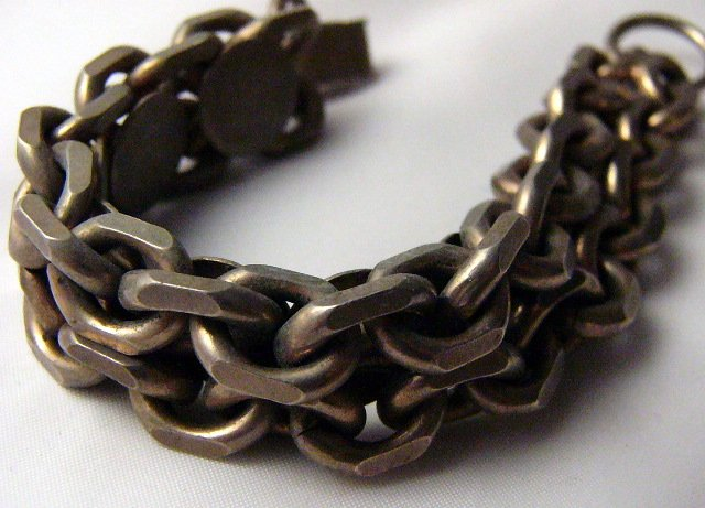 Heavy Metal Link Chain Bracelet Punk New Wave Unique
