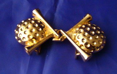 Ladies Golf Ball Tees Buckle signed Jeannie 1979
