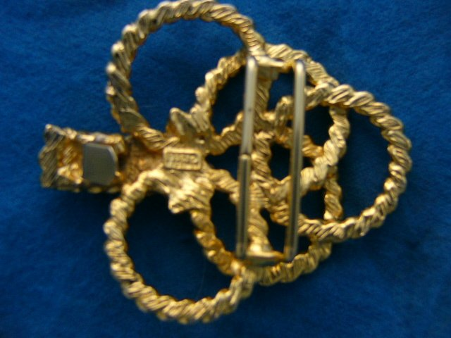 Mimi di N Belt Buckle Collectible Signed Rope