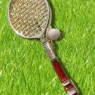 Vintage Gerrys Tennis Ball Enamel Racket Racquet Pin