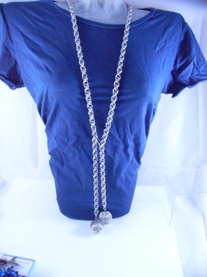 Vintage Silvertone Chain Long Sautoir