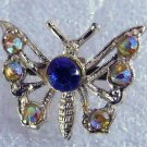 Sweet vintage rhinestone small Butterfly pin