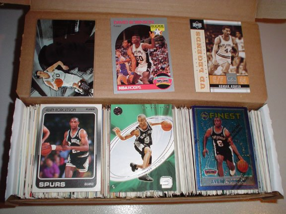 Collection of San Antonio SPURS Basketball Cards ***FREE SHIPPING***