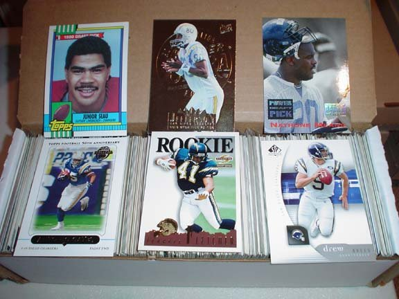 Collection of San Diego CHARGERS Football Cards ***FREE SHIPPING***