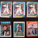 Alan Trammell Detroit Tigers Baseball Cards - ** FREE SHIPPING **
