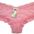 Boxer Short Lace Panties Ladies light  Pink One Size New with Tags