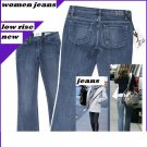 Brand New with Tag women Blue jeans boot cut low rise size 27