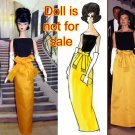 Pre-order  Jackie Kennedy State Dinner Black Yellow Evening Gown for silkstone Barbie