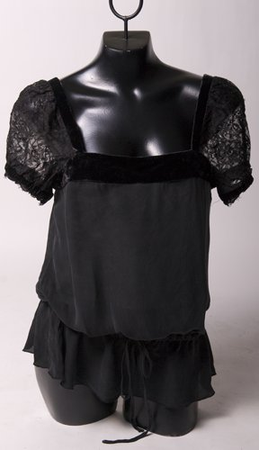 Black Silk & Lace Blouse