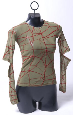 Green Red Web Longsleeve