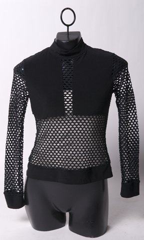 Mesh Black Longsleeve Top