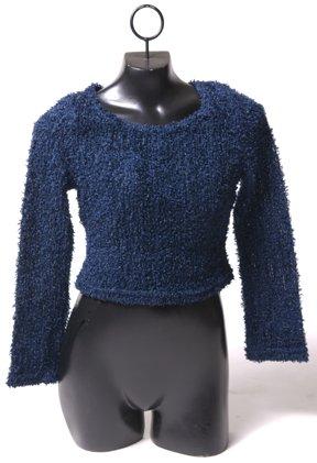 Fuzzy Sparkly Navy Sweater