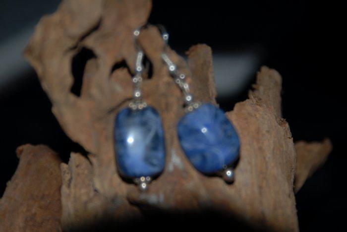 Sterling Silver & Sodalite Earrings