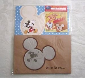 New! Disney Mickey Mouse Letter Set 8 Sheet Pads 4 Envelopes & Stickers Blue Dot