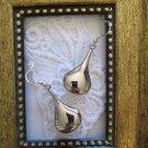 Silver Tone Big Drop Earrings, Free Shipping!